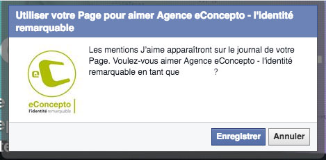 aimer une page facebook